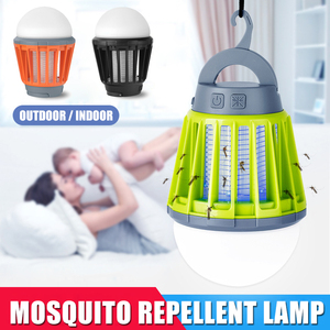 Newest 2-in-1 Mosquito Repellen LED Lantern With Hook UV Mosquito Lamp Camping Lantern Tent Light Portable IPX6 Waterproof(China)