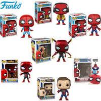 Funko POP Marvel lejos de casa limitado tema Spider Man PVC figuras de acción modelo coleccionable caja Original juguetes para regalos 2F27