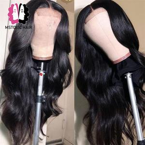Image 5 - 360 Lace Frontal Wig Brazilian Body Wave Wig 13x4 Lace Front Human Hair Wigs For Black Women Mstoxic Remy Hair 4x4 Closure Wigs