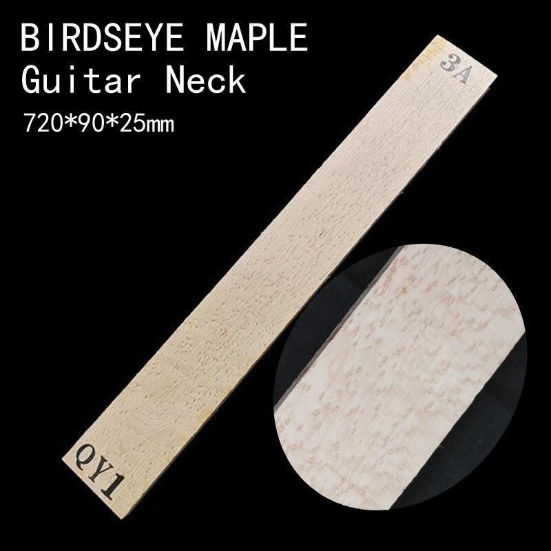 720*90*24mm BIRDSEYE MAPLE Guitar Neck High Quality Wood  Electric Guitar Neck DIY Handmade Guitar Accessories