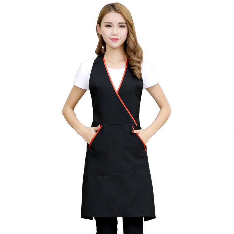 Catering Staff Apron Beauty Salon Beautician Work Clothes Apron Nail Waitress Sleeveless Skirt Female Supermarket Apron