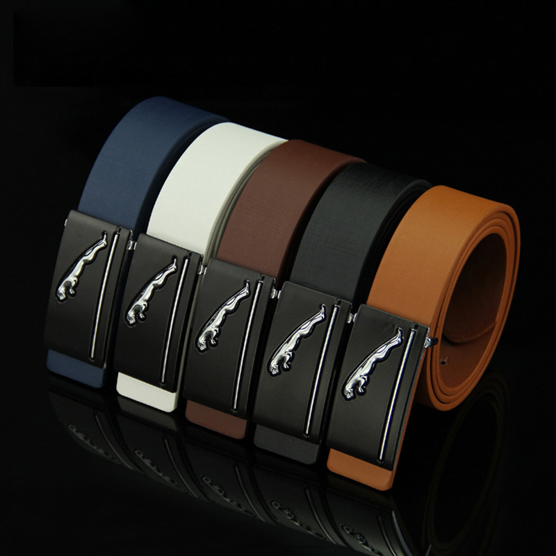 Top Quality Man Genuine Leather Belt Metal Automatic Buckle Fashion Casual Men Luxury Real Skin Belts Business Formal Male Strap