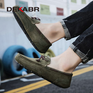 Image 5 - DEKABR Genuine Leather Men Shoes Luxury Brand Casual Slip On Formal Loafers Men Moccasins Male Driving Shoes Warm Loafers