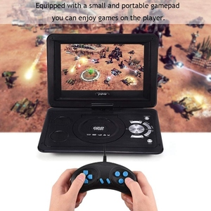 Image 2 - 13.9 Inch HD Portable DVD Player, MP3/CD/TV Game Player with Swivel Sn Supported SD Card FM Radio Receiver EU Plug