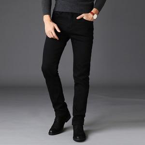 Image 3 - Pantalones vaqueros clásicos para Hombre, ropa masculina de tela vaquera, suave, de motorista, color negro