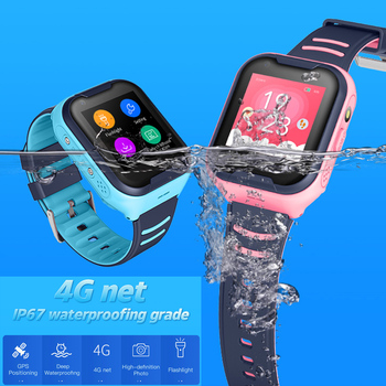 A36E 4G smart kids watch waterproof IPX7 Wifi GPS Video call Monitor Tracker clock Students Wristwatch kids children GPS watch 6