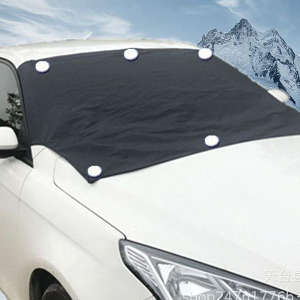 Car Cover Front Windshield Snow Cover Car Winter Antifreeze Cover Sun Shield Cover Snow Cover For Vehicle image