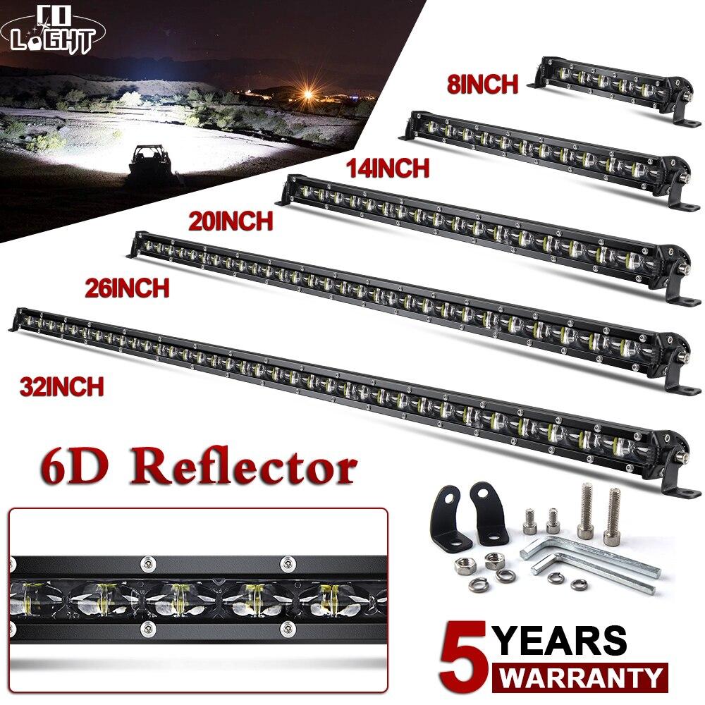 CO LIGHT 6D Slim Led Light Bar 12V 8