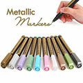 10 шт., цветные металлические фломастеры на масляной основе