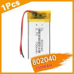 Polymer battery 700 mah 3.7V 802040 smart home Rechargeable Li-ion battery for dvr GPS MP3 MP4 Bluetooth Speaker Reading Pen DIY