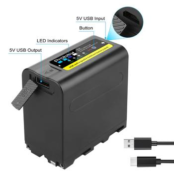 Probty 8800mAh NP-F980 NP-F970 NPF960 NPF970 con salida de carga USB para Sony PLM-100 CCD-TRV35 MVC-FD91 MC1500C