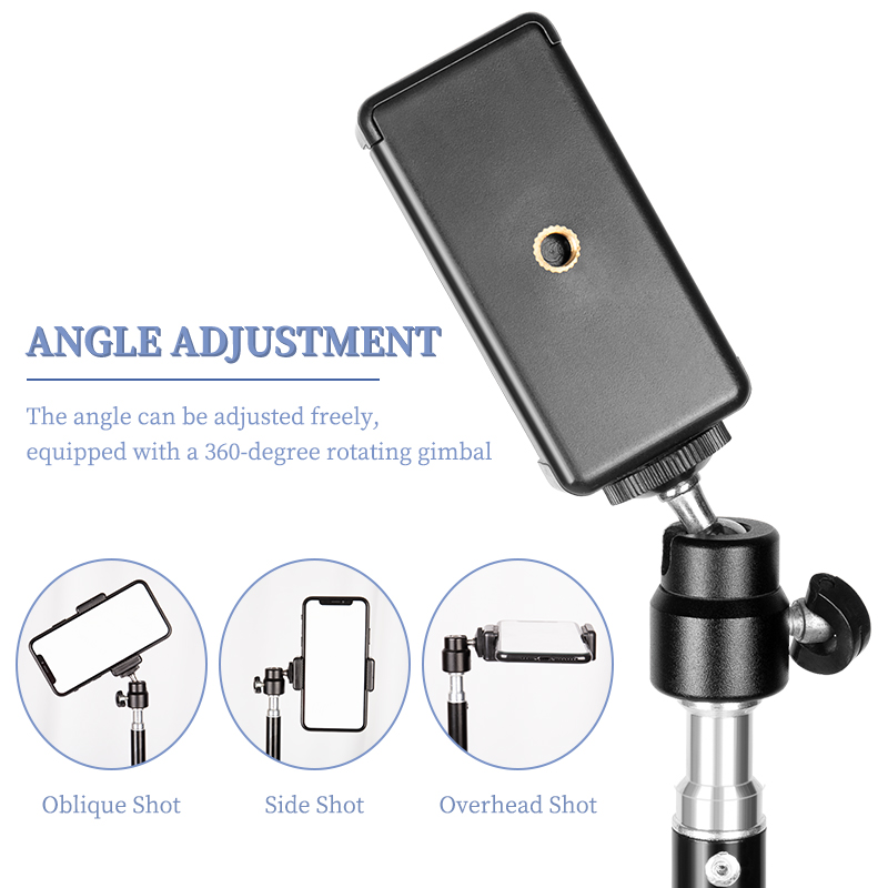 1/4 Screw Head Universal Portable Aluminum  Selfie Tripod For Phone Stand Mount Digital Camera  With Bluetooth Remote Control 1