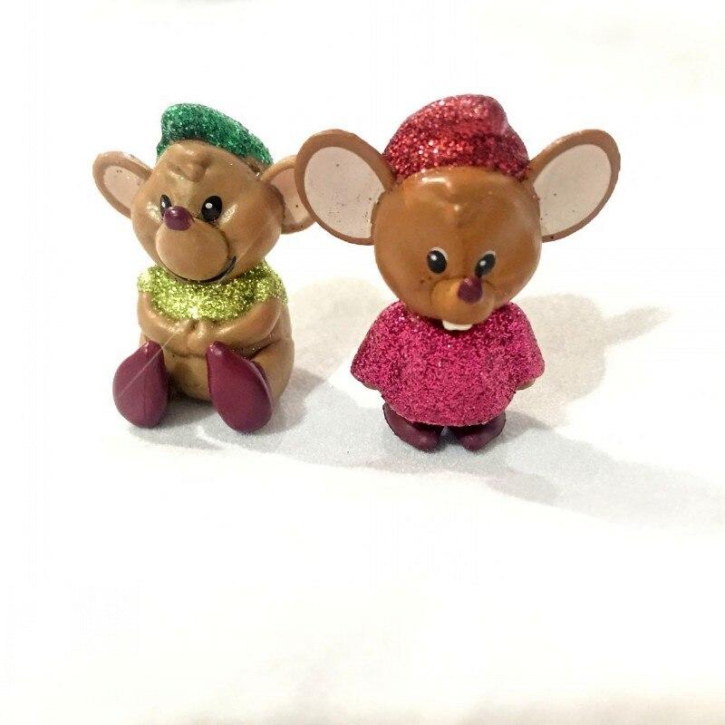 Figure-Toy Cinderella-Mouse-Anime Decoration Birthday-Gift Cute DIY PVC Original