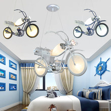 Modern Kreatif Chrome Finish Model Motor Kabel Lampu Gantung LED Pendant Light untuk Anak-anak Kamar Anak(China)