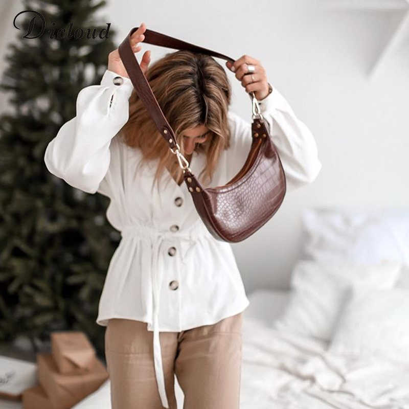 DICLOUD cuello en V Casual Camisa de pana de blanco las mujeres primavera otoño manga larga Sexy de moda 2019 tops y blusas para mujer