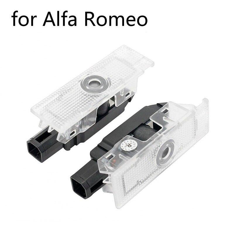 2pcs For Alfa Romeo 159 147 156 Giulietta Giulia Mito Stelvio Brera Led Car Door Welcome Light Logo Projector Laser Door Light