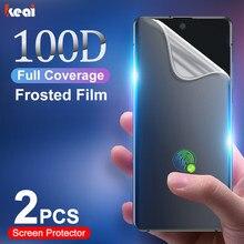 Ekran koruyucu için Samsung Galaxy S21 S20 FE S10E S9 S8 not 20 Ultra 10 artı mat hidrojel Film a51 A50 A52 A71 A70 A72