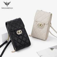 WilliamPOLO Brands Wallets Women Mini Shoulder Bags Female Chain Mobile Phone Bag Ladies Small Clutch Messenger Wallet for Women