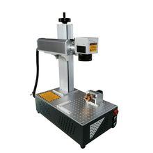 цена на Fiber Laser Marking Machine Raycus 30W 200x200mm Metal Engraving laser machine with Rotary axis