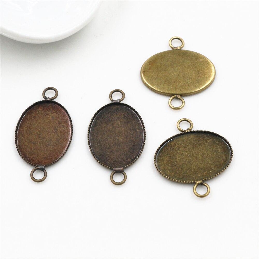 12PCS Silver 18x13mm Oval Blank Settings Earring Hooks Jewelry Findings