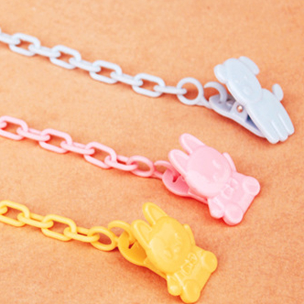 Baby Pacifier Clips Infant Feeding Toddle  Pacifier Chain Holder For Baby Teething Soother Chew Toy Dummy Clips Drop-resistant B