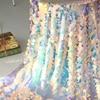 18mm Sequined Fabric Large Fish Scale Fabric Mermaid Skirt Fabric Magic Fabric Wedding Fabric Shooting Background Cloth Turban