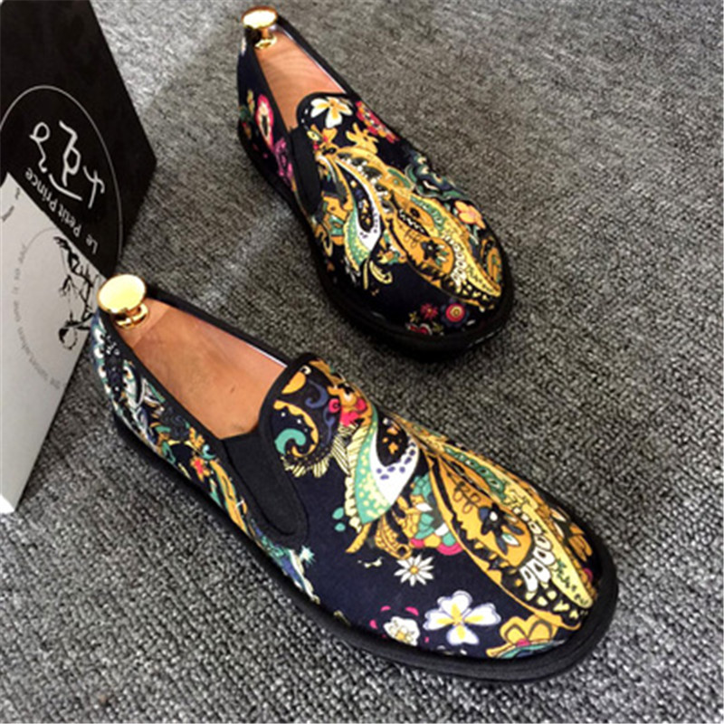 Image 5 - Spring Fashion Flats Shoes Espadrilles Loafers Light Hard Wearing 2019 Man Women Canvas Harajuku Rubber Canvas Embroider Shoes-in Men's Casual Shoes from Shoes