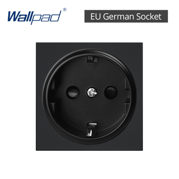DIY EU UK Wall Socket Push Button Switch Electrical Outlet Black Function Key Only Free DIY 55*55mm S6 Series Wallpad 23
