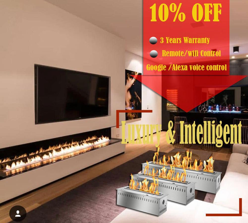 Hot Sale 30 Inch Real Fire Intelligent Smart Bioethanol Fireplaces Burner