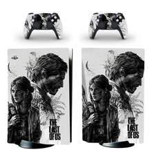 Pegatina de piel para consola PlayStation 5 y 2 controladores, pegatina de piel para PS5, Edición Estándar de disco, la última de los EE. UU.