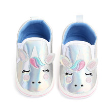 Winter Infant Shoes Newborn Kid Baby Boy Girl Soft Sole Crib Shoes Canvas Cartoon Prewalker Sneakers Lovely Unicorn Baby shoes(China)