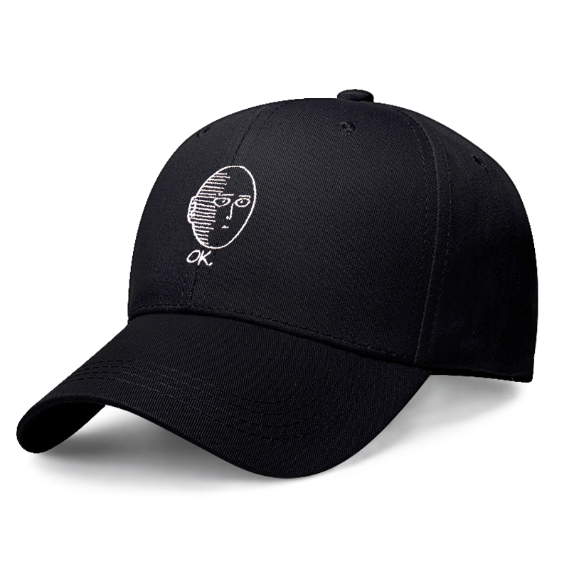 RQJOPE Baseball cap One Punch Dad Hat Cotton Saitama Baseball Cap Man One Punch ManFashion sports and leisure sun hat