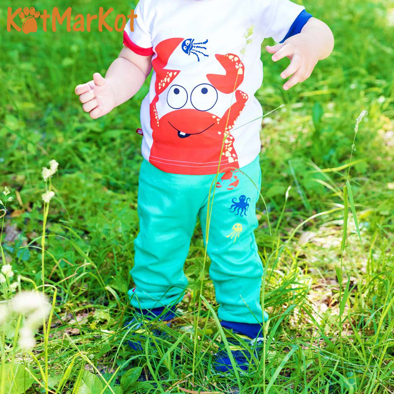 Фото - Pants & Capris Kotmarkot 75204 baby  childhood newborn clothes sliders footies Cotton Baby Boys pants baby shaluni