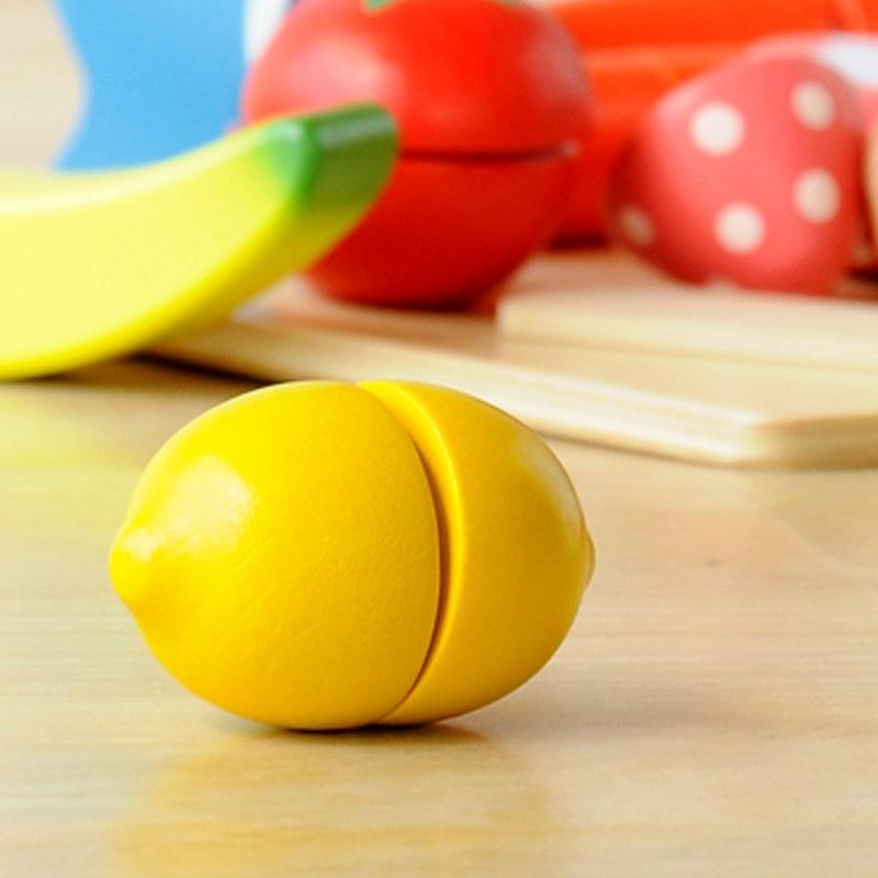 Klasične kuhinjske igrače Lesene simulacije Sadje / Zelenjava - Igra igranja vlog - Fotografija 3