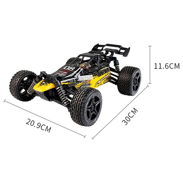 1:16 Radio RC Car High Speed RC Cars 4WD 36KM/H Off Road Buggy Truck Electric Drift Toy Trucks Yellow 5