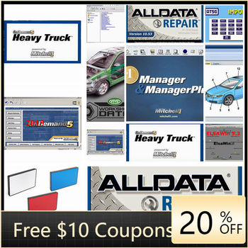 Alldata Auto Repair Data Software Alldata 10.53 and Mit/chell od5 software 50in 1tb hdd usb3.0 Vivid workshop heavy truck