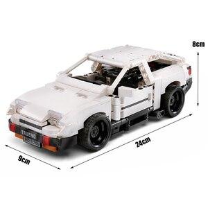 Image 2 - حقيقي إذن تكنيك الإبداعية MOC سيارة الأولي D تويوتا AE86 الكرتون موتور اللبنات الطوب متوافق اللعب