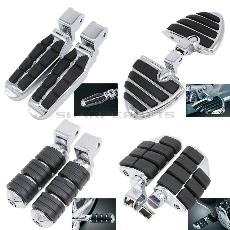 Motorcycle Driver Rider Foot Pegs FootRests For Honda GoldWing GL1500 88-00 Shadow 1100 ACE Tourer 97-03 Valkyrie 97-04