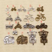 Colgante de 20 Uds de Metal para motocicleta, bicicleta, colgante para hacer joyería, suministros para hacer joyería, surtido de accesorios de joyería, componentes