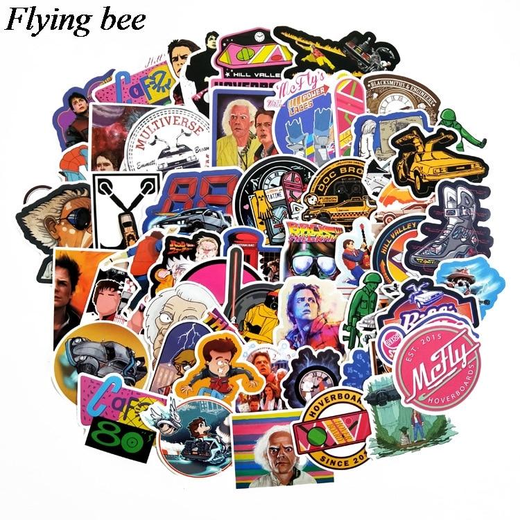 טלוויזיות 25 29 Flyingbee 57 יח חוזר מדבקות בעתיד מדבקות Waterproof עבור חדר שנת מדבקות מדבקות מחשב נייד רכב החפץ קישוט X0701 (1)