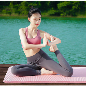 185*80cm Eco Friendly NBR Yoga Mats Thick Yoga Mat Non Slip Exercise & Fitness Mats With Carrying Strap For Yoga Pilates Fitness цена 2017
