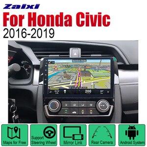 ZaiXi Android 2 Din Auto Radio For Honda Civic 2016~2019 Car Multimedia Player GPS Navigation System Radio Stereo