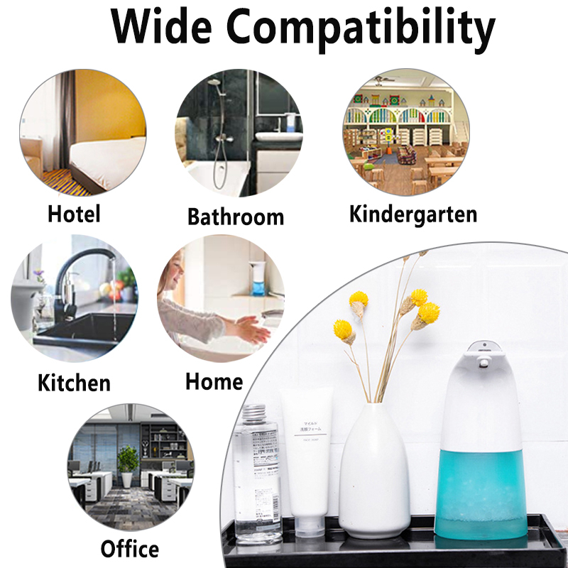 250ml Automatic Induction Soap Dispenser Free Pressing Infrared Sensing Intelligent Soap Dispenser for Kitchen Bathroom 250ml Automatic Induction Soap Dispenser Free Pressing Infrared Sensing Intelligent Soap Dispenser for Kitchen/Bathroom