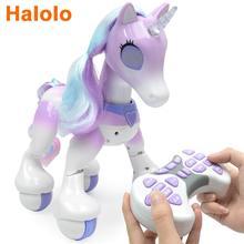 Halolo  Creative Remote Control Horse Unicorns Robot Cute animal Intelligent Induction Electric Model Pet robotics Kids toys