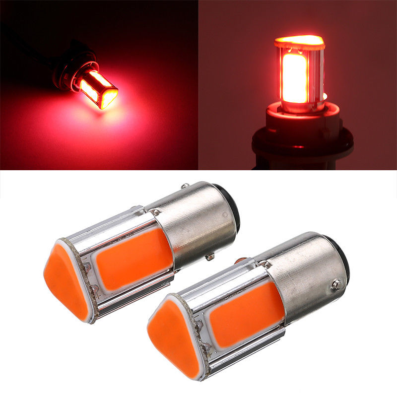 1pcs  5w 1157 Bay15s 2 LED Cars Fog Head Lights Bulb Auto Lamp 12V 24V Signal Tail Parking Car Light Source Led Car Bulbs