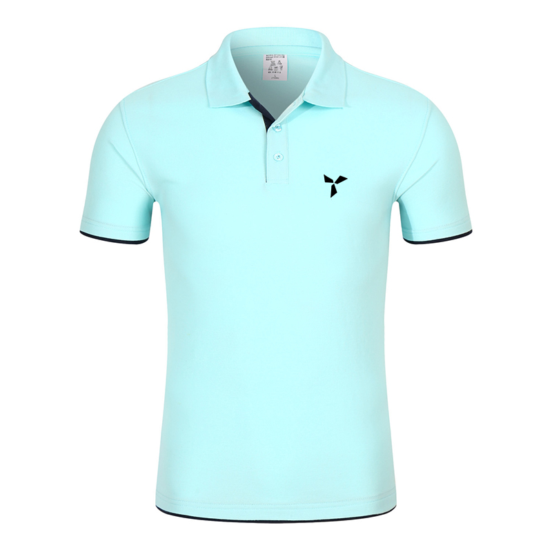 2020 NEW Clothes Men Knitted Polo Shirt Contrast Color Short Sleeve Turn-down Neck Top Breathable Plus Size Sport Men's Polo Tee 6
