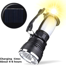 Solar Power LED Flashlight USB Rechargeable Torch Camping Tent Light Lamp Lantern WWO66