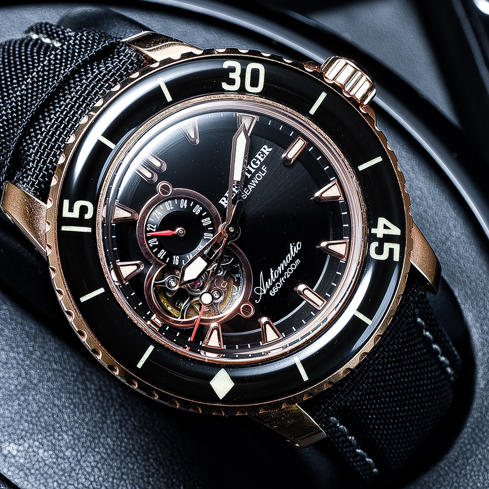 Reef Tiger/RT Top Brand Watch For Men Sport Automatic Watches Rose Gold Super Luminous Diving Watch Nylon Strap RGA3039 3