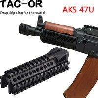 Tactical CNC Multi function RIS AK Handguard with Tri rail 20mm Picatinny Rail Mount for Hunting Airsoft Aks 47U Rifle Accessory