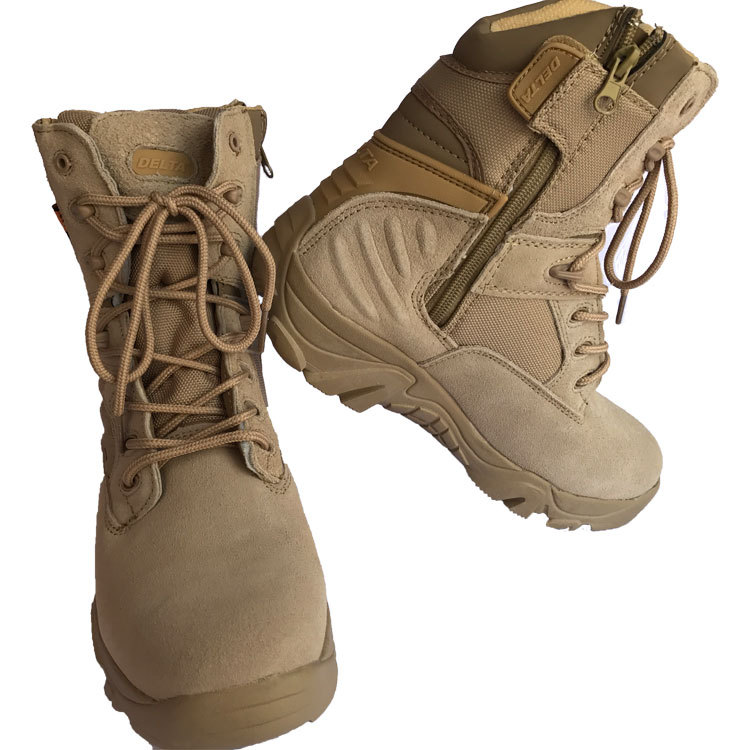 5.56-Summer Delta Tactical Boots Breathable Hight-top Desert Boots 07 Combat Boots Mountain Climbing Hiking CS